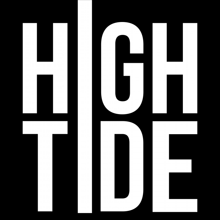 HighTide Logo White on Black SQExtended