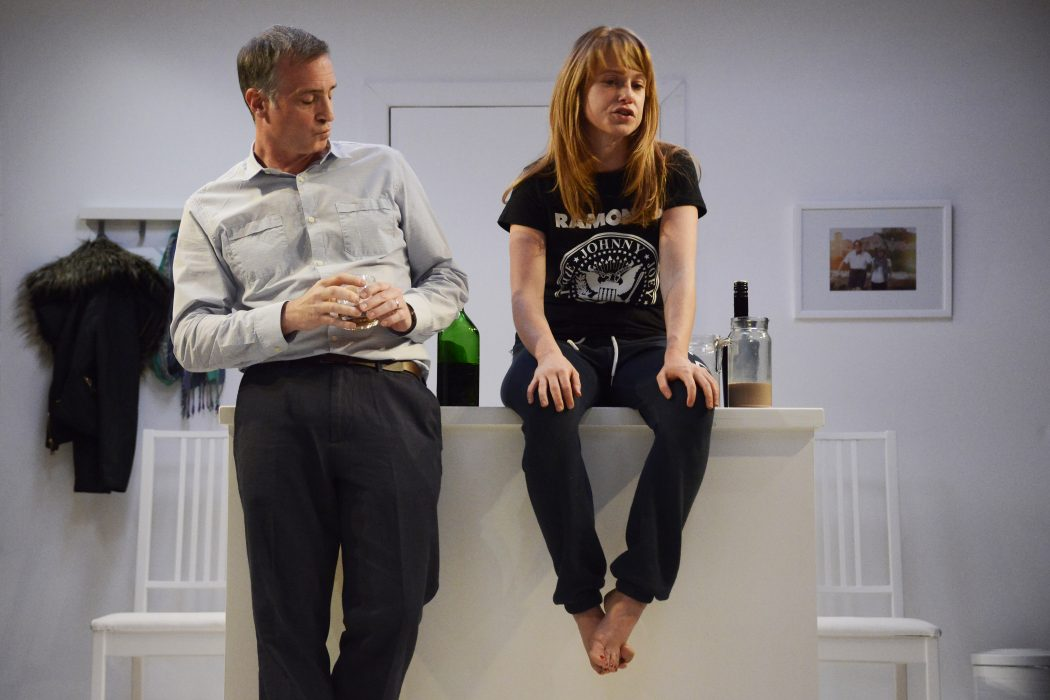 Nick Sidi and Sarah Ridgeway in the 2015 production of Harrogate at HighTide Festival